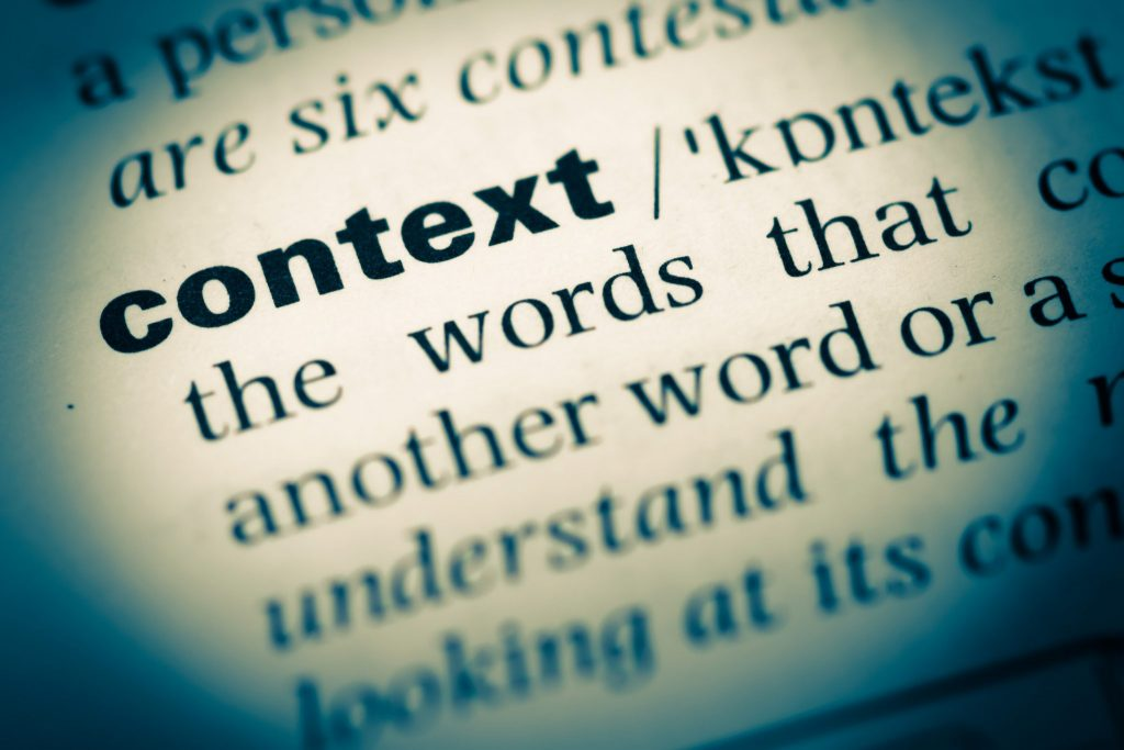 Finding The Right Context For A Term